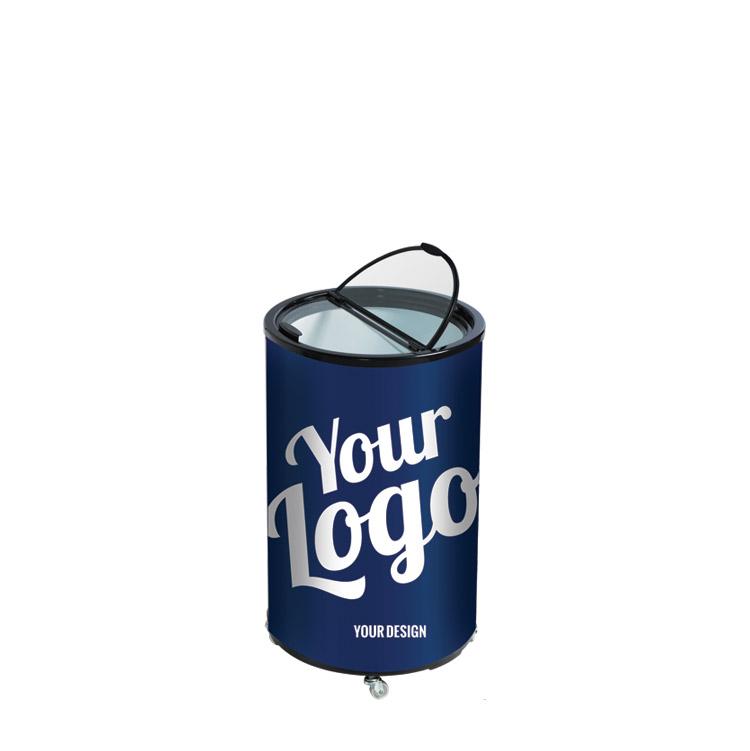 Køler / køleskab med din reklame - Dit tryk / design på folien - SKUUB.dk