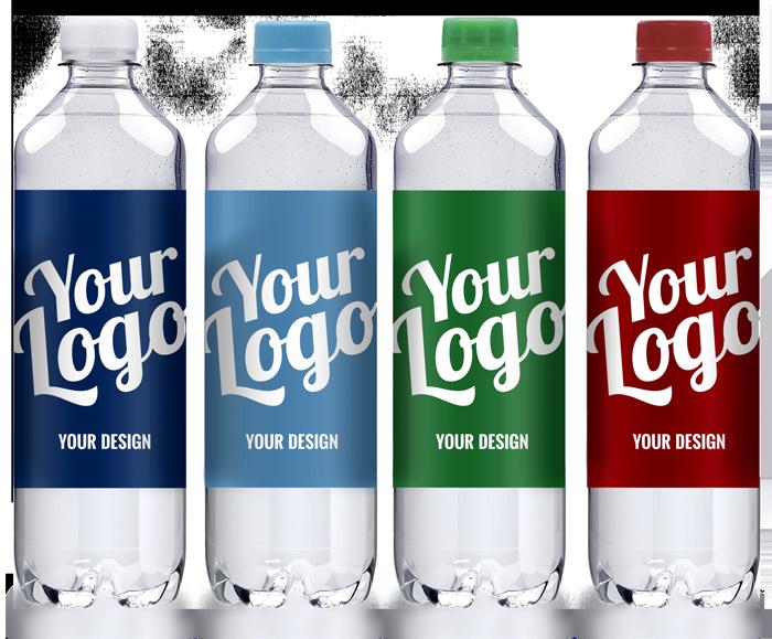 Vandflasker med kildevand - logovand / reklamevand fra SKUUB.dk