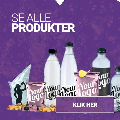 Se alle vores produkter - Skuub - Logo-vand, logo-slik, logo-kaffe, logo-energidrik m.m.