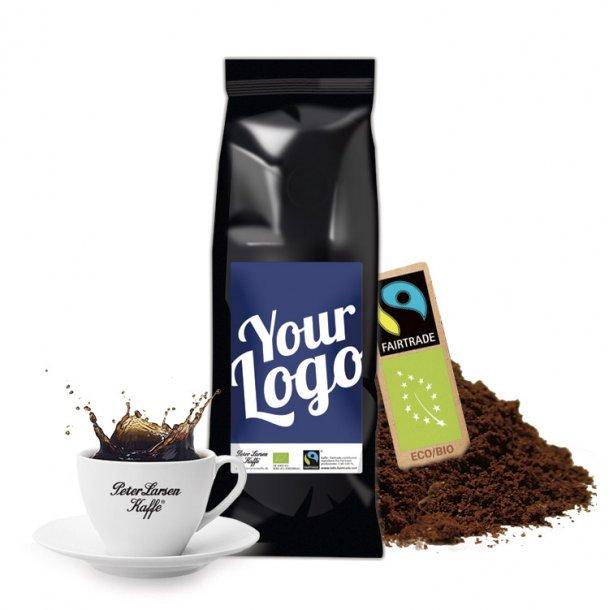 Kaffe med logo - Økologisk Fairtrade